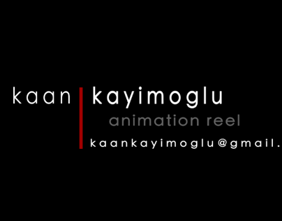 ANIMATION REEL - 2013