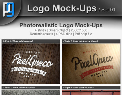 Photorealistic Logo Mock-Ups / Set 01