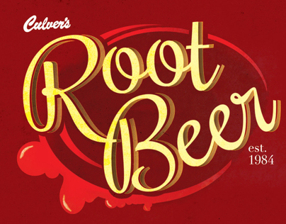 Culvers Root Beer Logo Design