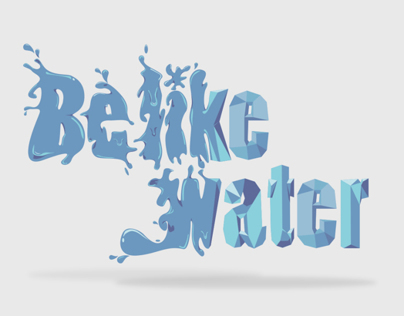 Be Like Water - Digital Drawing