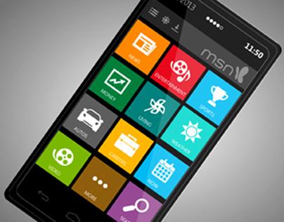 MSN App UI Concepts
