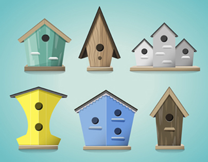 Bird House Illustrations