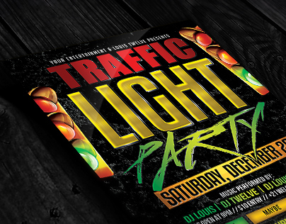 Traffic Light Party 2 | Flyer + Facebook Cover