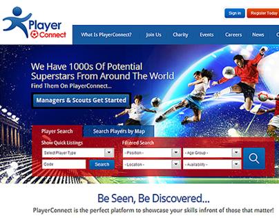 Player Connect Website Design