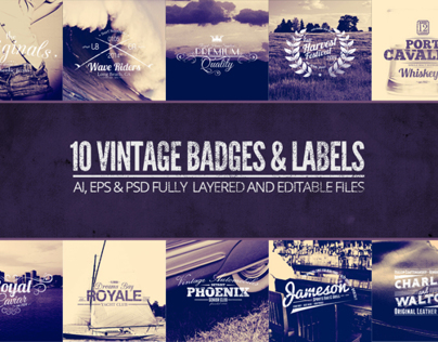 Vintage Labels and Badges Vol.1