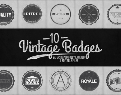 Vintage Labels and Badges Vol.2
