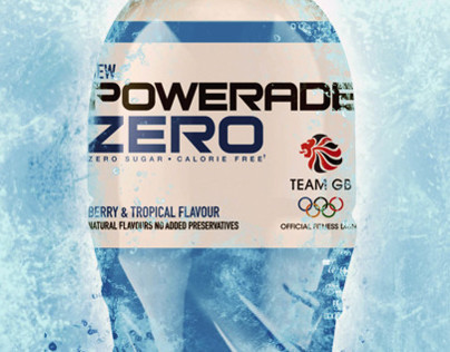 Powerade ZERO - advertising graphics.