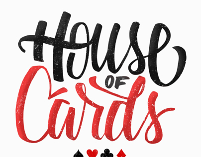 House of cards - lettering