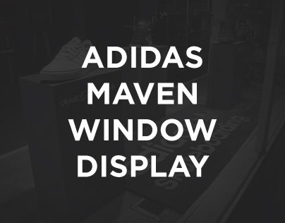 Adidas Maven Window Display