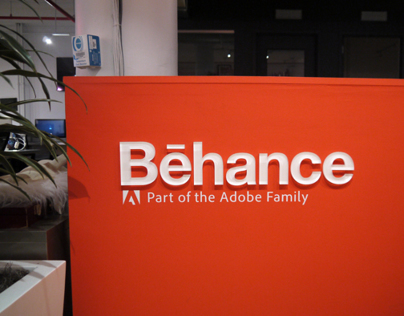 Adobe Workplace NYC - Behance Signage