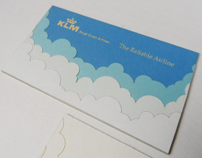 KLM business card tests