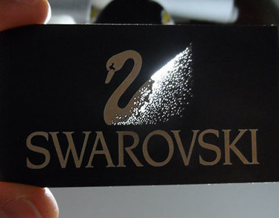 Swarovski crystals card