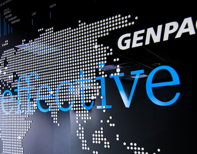 Genpact office branding
