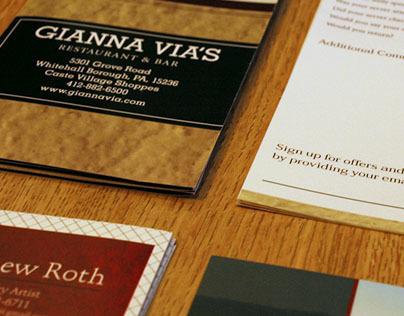 Gianna Vias Restaurant Collateral