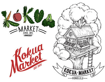 T-Shirt Designs completed for Kokua Market Honolulu