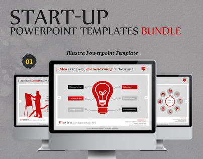 Start-up Powerpoint Templates Bundle