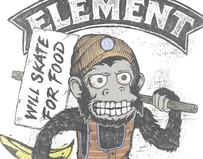 Element Skateboards Mens Tee Graphics