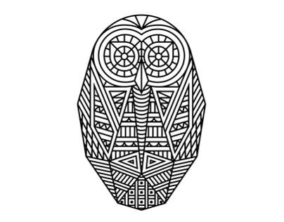geometrical owl design