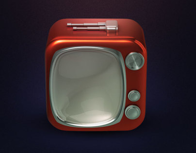 3D - TV - In App Icon
