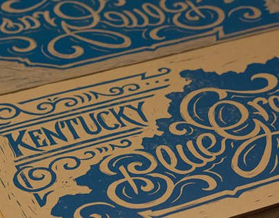 Kentucky Bluegrass - Block Print