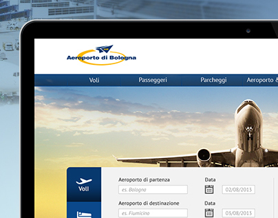 Bologna Airport redesign / Web site