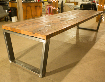 11 ft. dinning table and benches