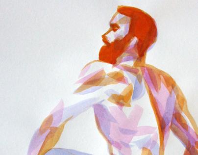 20 minutes watercolor sketches