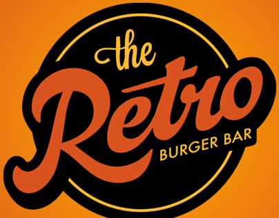 Retro Burger Bar Logo