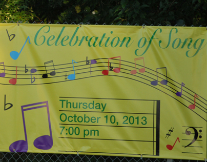 Banner for the Shawnee Mission South High School Choir
