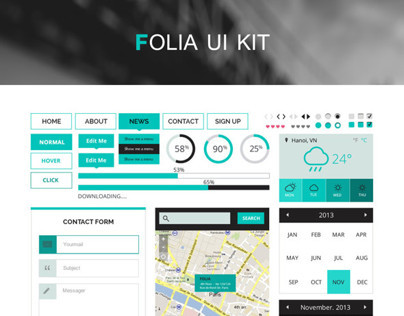 Folia UI Kit - PSD Resource