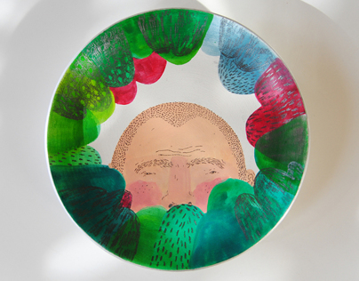 illustration on ceramics