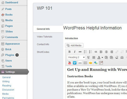 Flash Dash WordPress 101