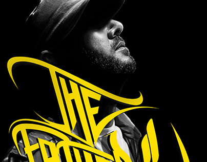 THE FATHER Portrait of a rapper poster design