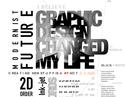 Experimental Typography Poster - GD Changed My Life