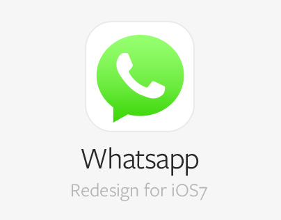 Whatsapp iOS7 Concept