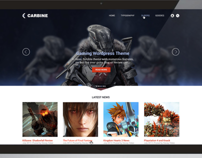 Carbine Wordpress Theme
