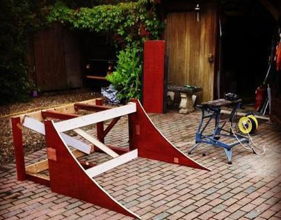 Quarterpipe ramp