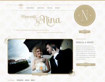 Moments by Nina - Website