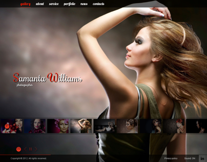 Samanta Williams Photo Portfolio HTML5 Template