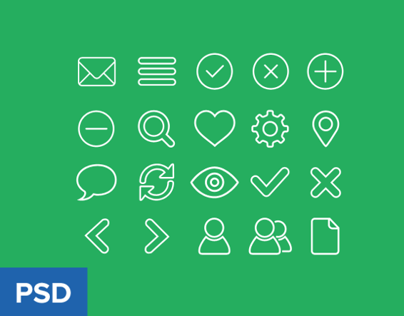 Outline icon set freebie