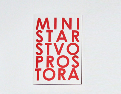 Brochure about Ministry of Space collective