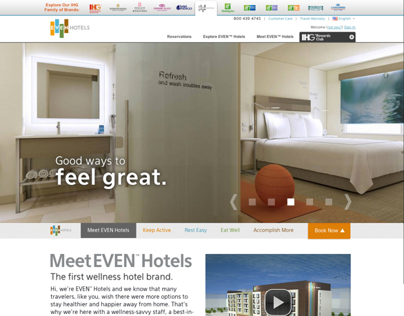EVEN™ Hotels - 2014 Website Redesign - EVENHotels.com