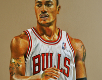 Derrick Rose | Colored Pencil Portrait