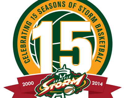 Seattle Storm: 15th Anniversary Logo