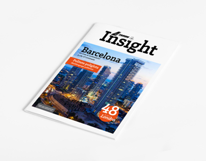 Insight Tarom / design de revistă