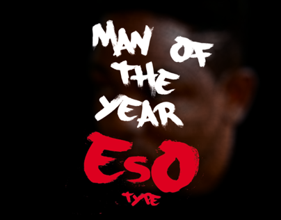 Man of The Year - Typographic Portrait