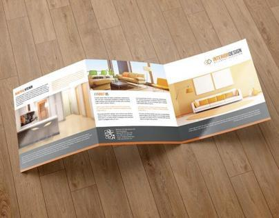 Square Trifold Brochure-Interior Design