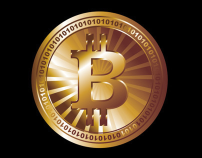 digital money bitcoin vector art