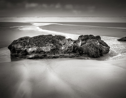 Watergate Beach, Cornwall, in Monochrome