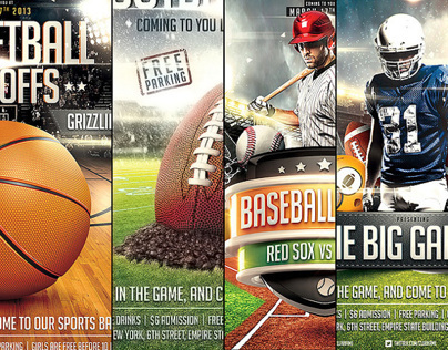 Collection of Sports Flyer Templates
